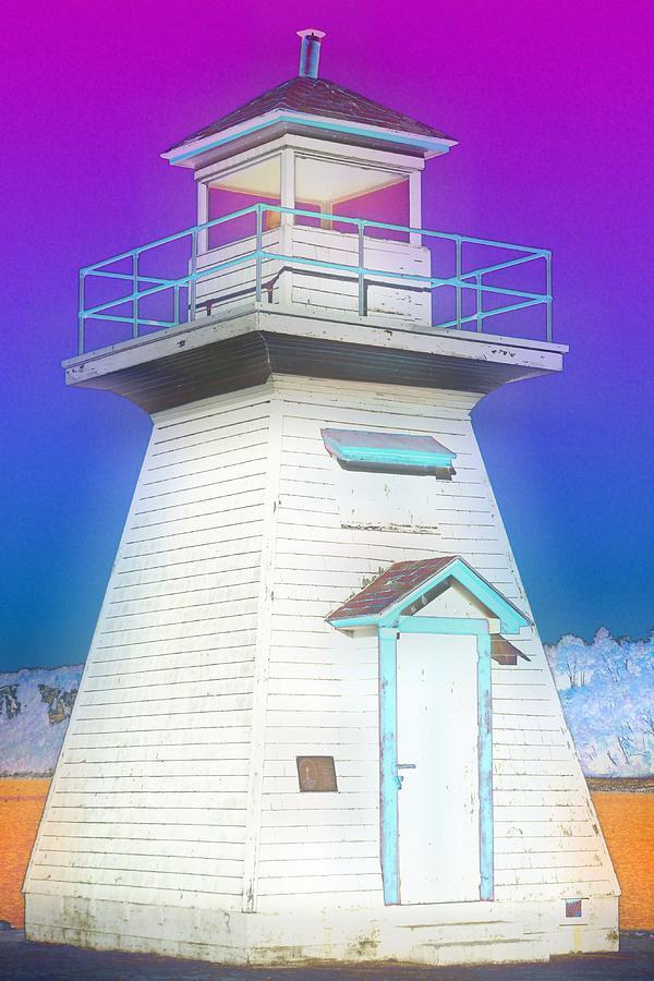 Harbours Photograph - South Hamton Lighthouse 3 by Cyryn Fyrcyd