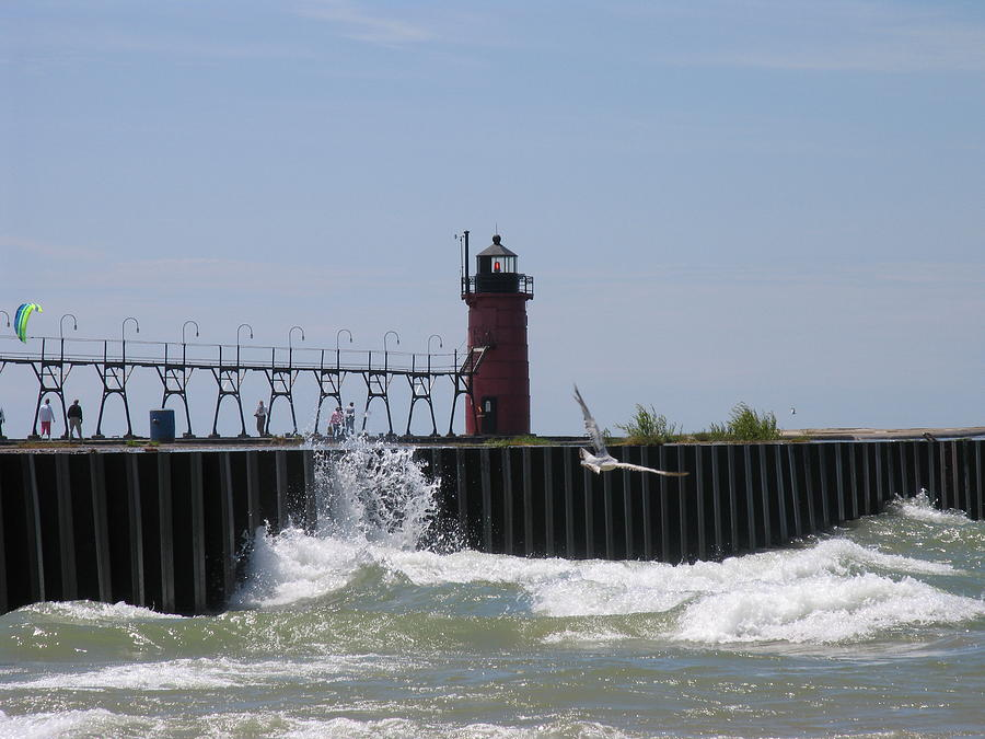 South Haven Photograph - South Haven Lighthouse by Matthew Winn