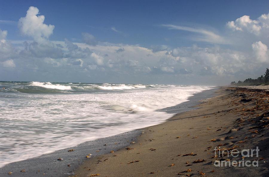 Ocean Photograph - South Hobe Sound Beach by Richard Nickson