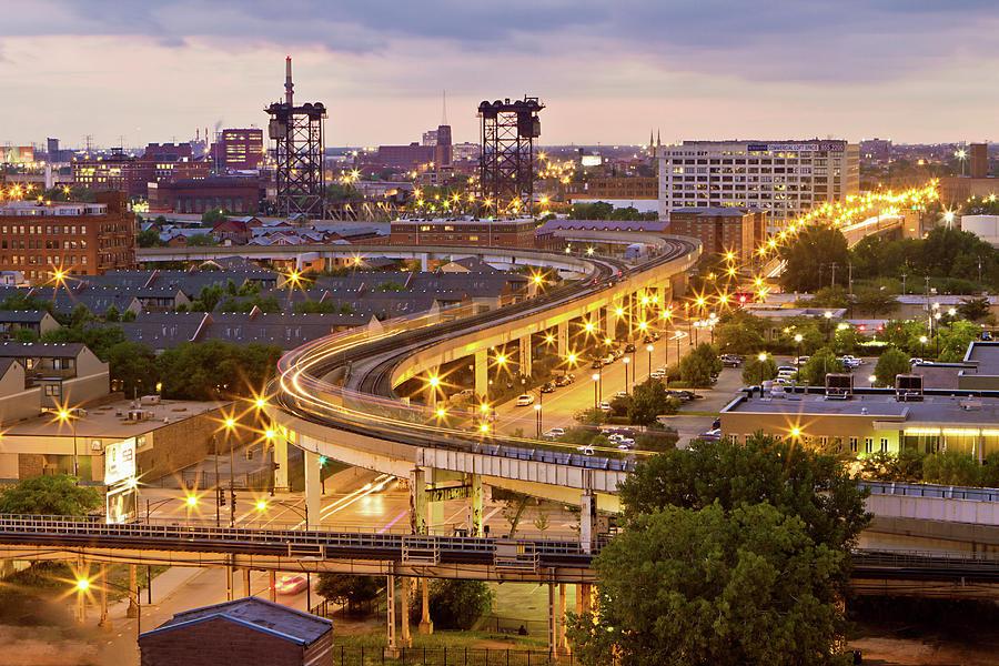 Horizontal Photograph - South Loop Long Exposure by Delobbo.com