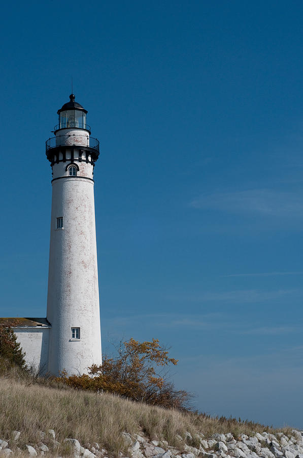 Lighthouse Photograph - South Manitou Island Lighthouse by David Arment