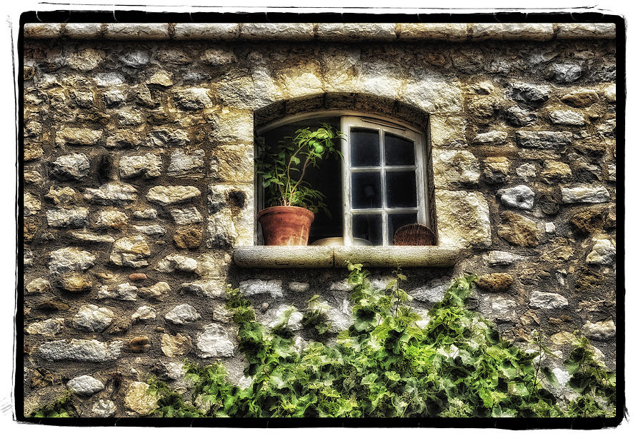 Framed Pyrography - South Of France 2 by Mauro Celotti