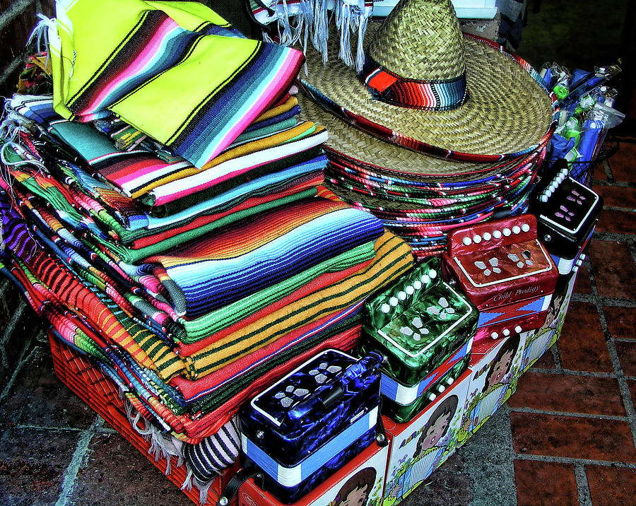 Olvera Street Photograph - South Of The Border by Helaine Cummins