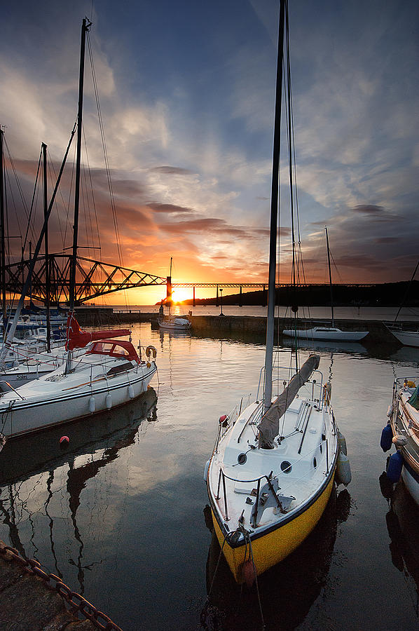 South Queensferry Photograph - South Queensferry Harbour by Keith Thorburn LRPS AFIAP CPAGB