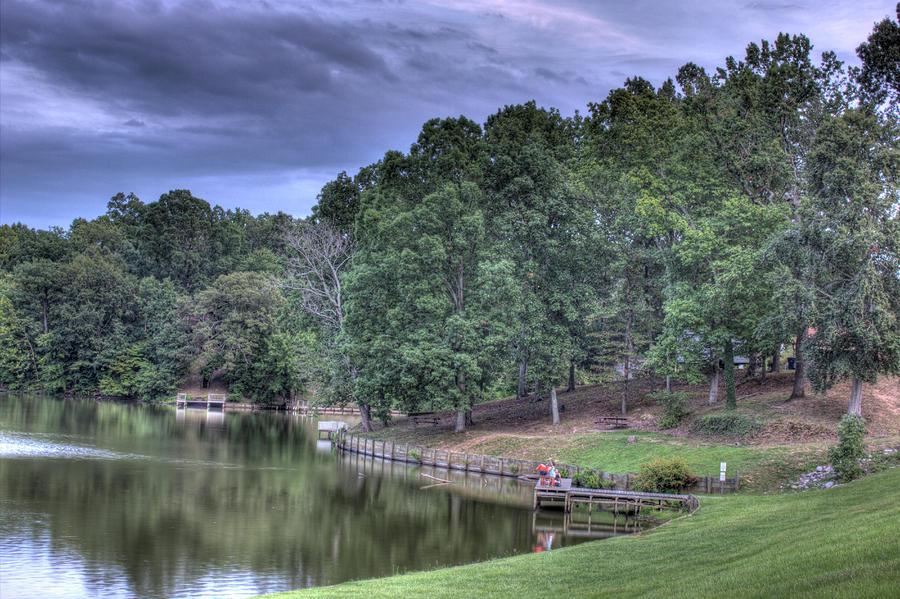 Trees Photograph - South Side Sunrise Lake by Barry Jones