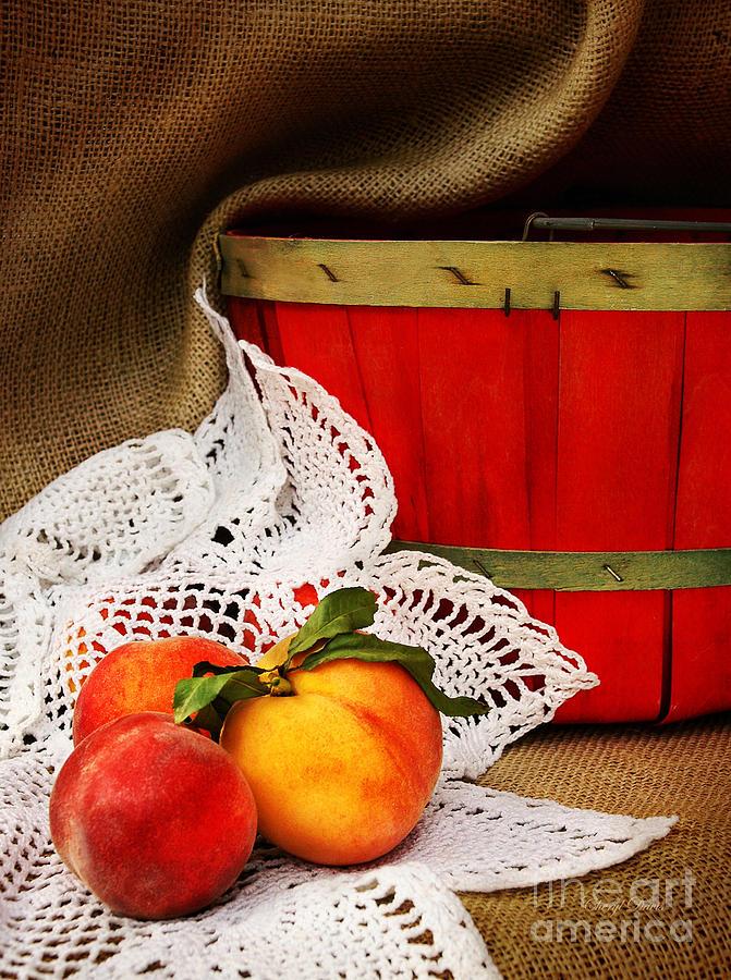 Peaches Photograph - Southern Peaches by Cheryl Davis