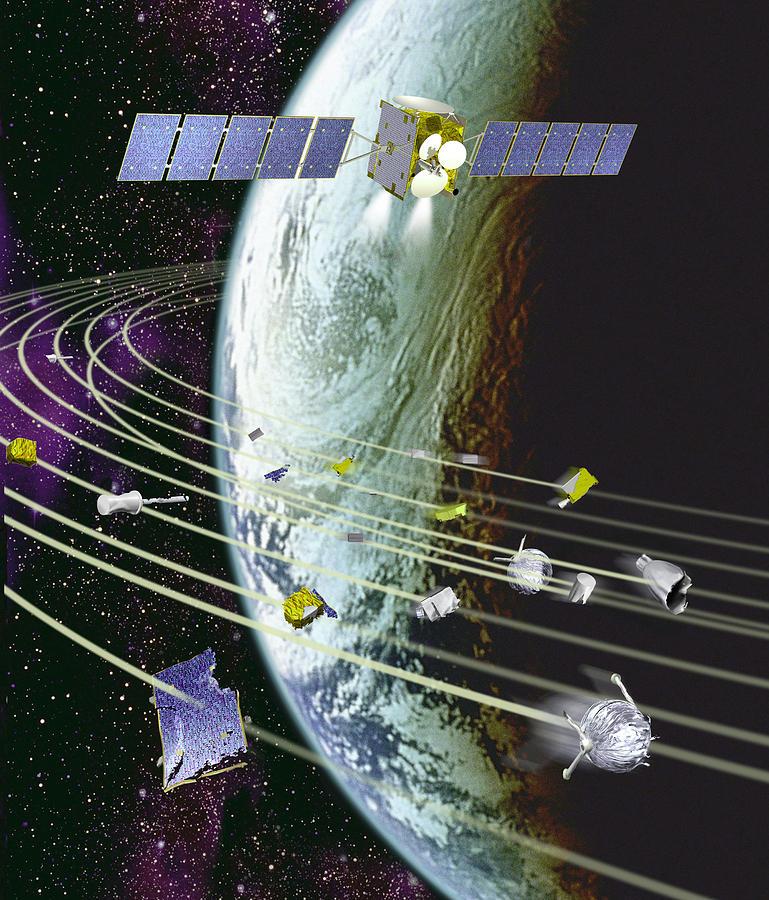 Communications Satellite Photograph - Space Debris by David Ducros
