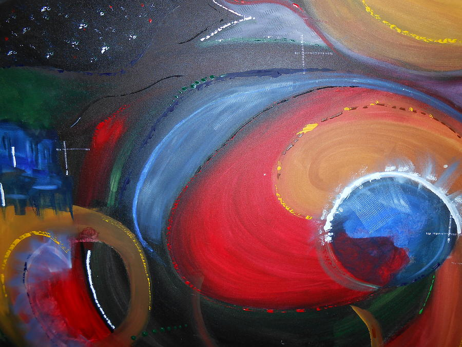 Abstract Paintings Painting - Space by Lisa Williams