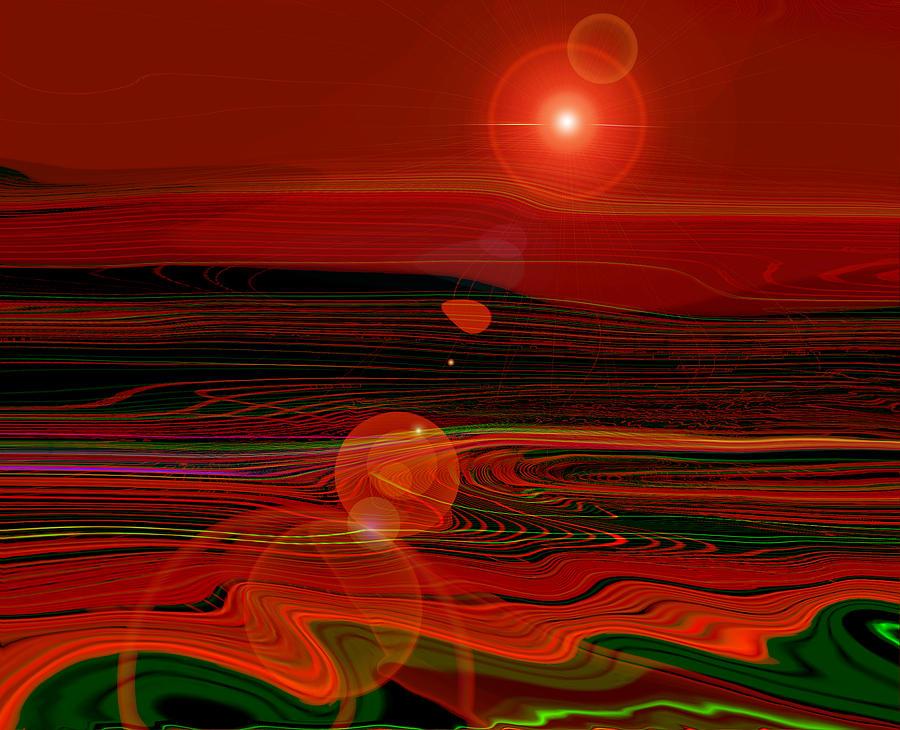 Space Digital Art - Space Love by Luminita Feodoroff