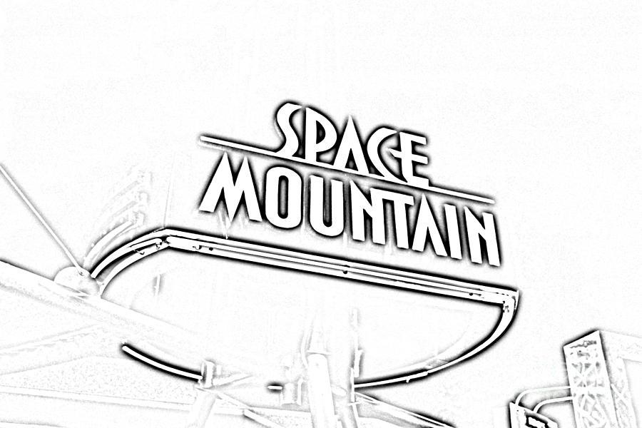 Space Mountain Sign Magic Kingdom Walt Disney World Prints ...