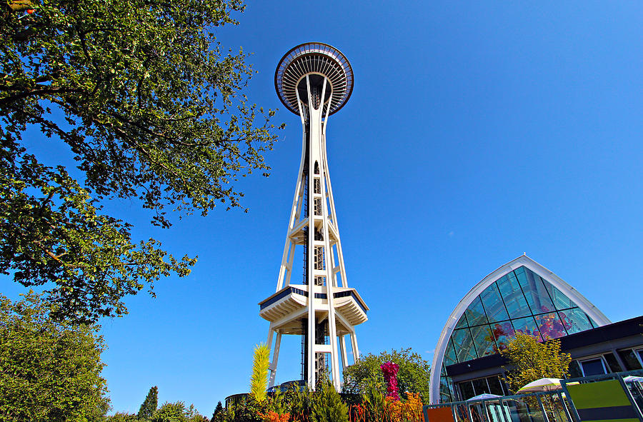 1962 Photograph - Space Needle In Seattle Washington  by Paul Fell
