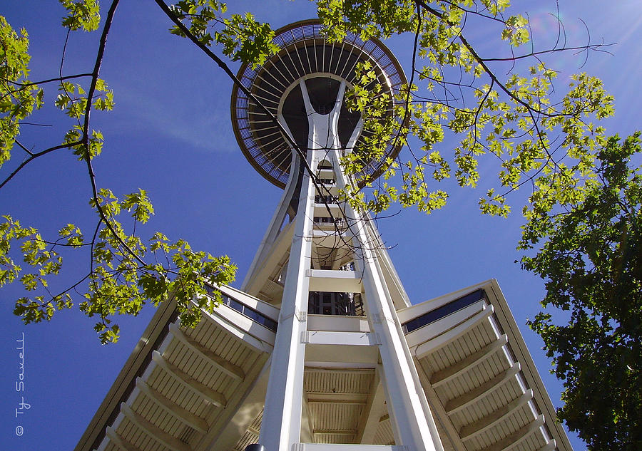 Space Needle Photograph - Space Needle Seattle Washington by Ty Savell