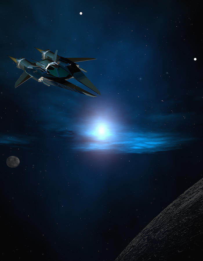 Space Digital Art - Space Rider by Robert aka Bobby Ray Howle