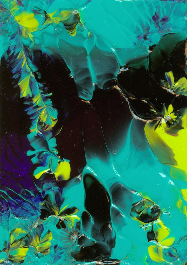 Original Fine Art Painting Painting - Space Vines by Nan Bilden