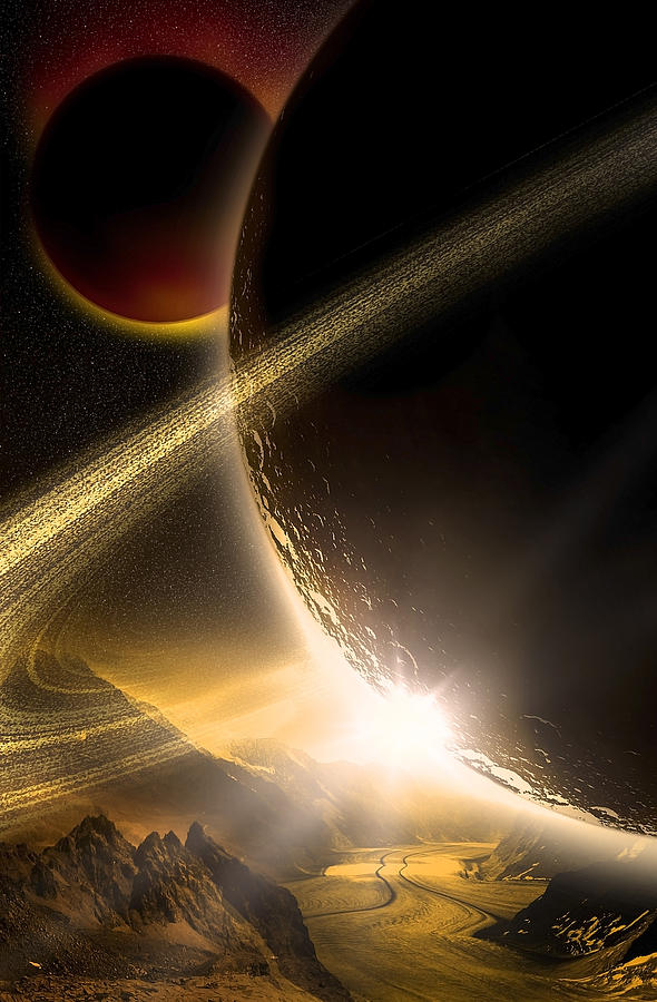 Abstract Digital Art - Space002 by Svetlana Sewell