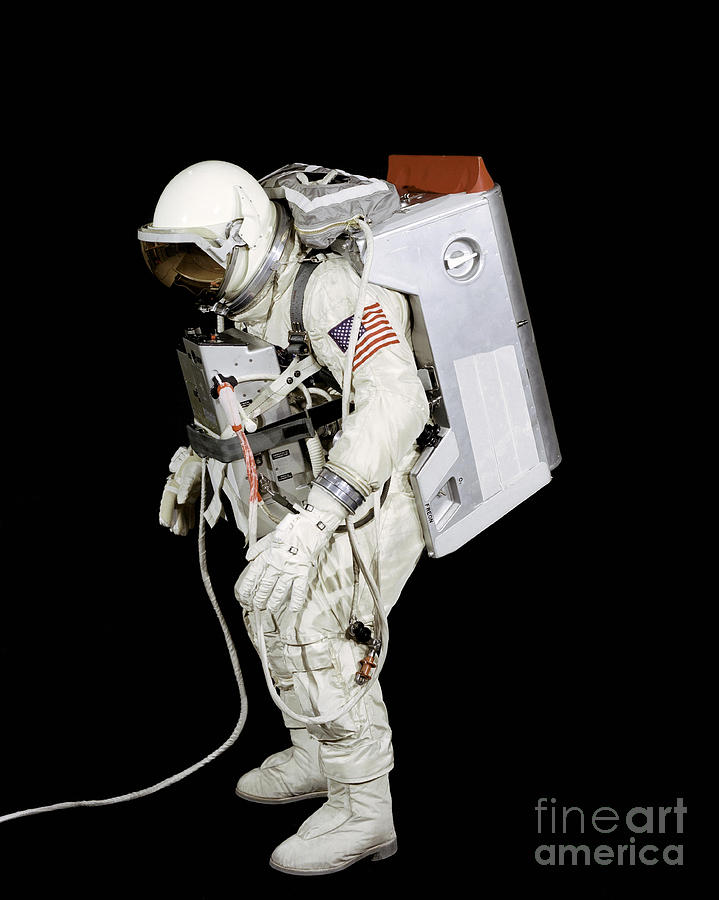 Black Background Photograph - Spacesuit Used By Gemini Viii by Stocktrek Images