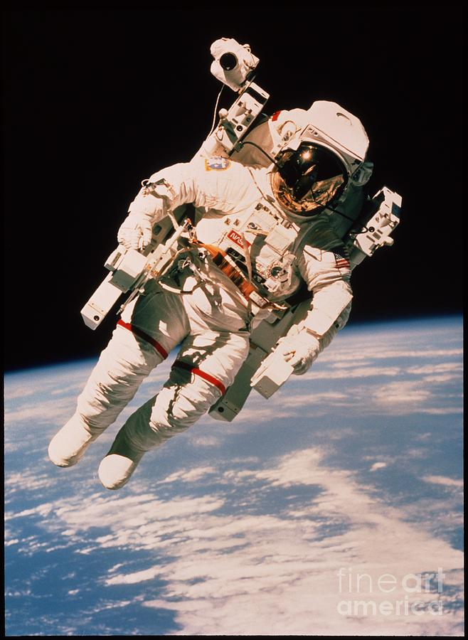 Alone Photograph - Spacewalk by NASA / Science Source