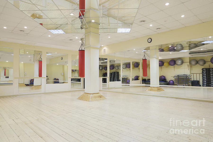 Balls Photograph - Spacious Gym by Magomed Magomedagaev