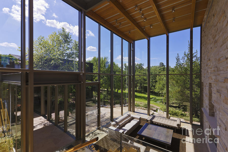 Architectural Detail Photograph - Spacious Living Room With A View by Jeremy Woodhouse