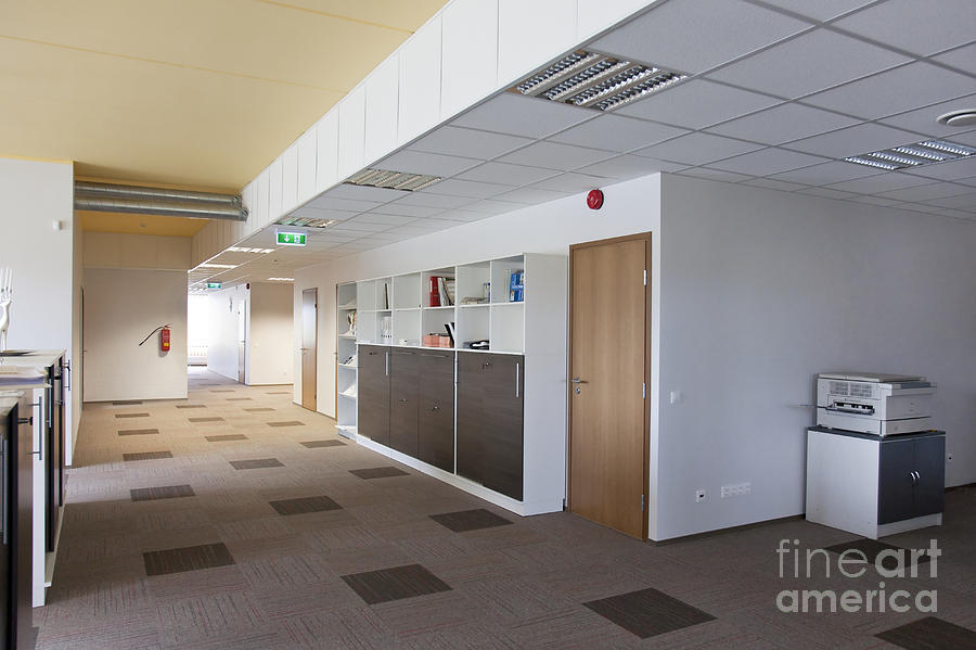 Architectural Detail Photograph - Spacious Office Hallway by Jaak Nilson