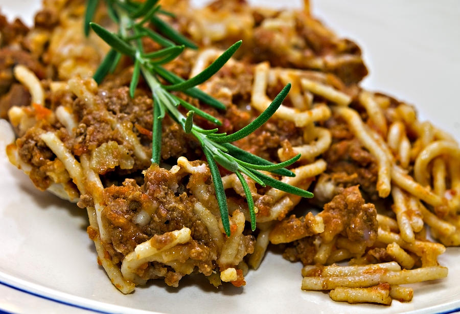 Food Photograph - Spaghetti With Sauce by Susan Leggett