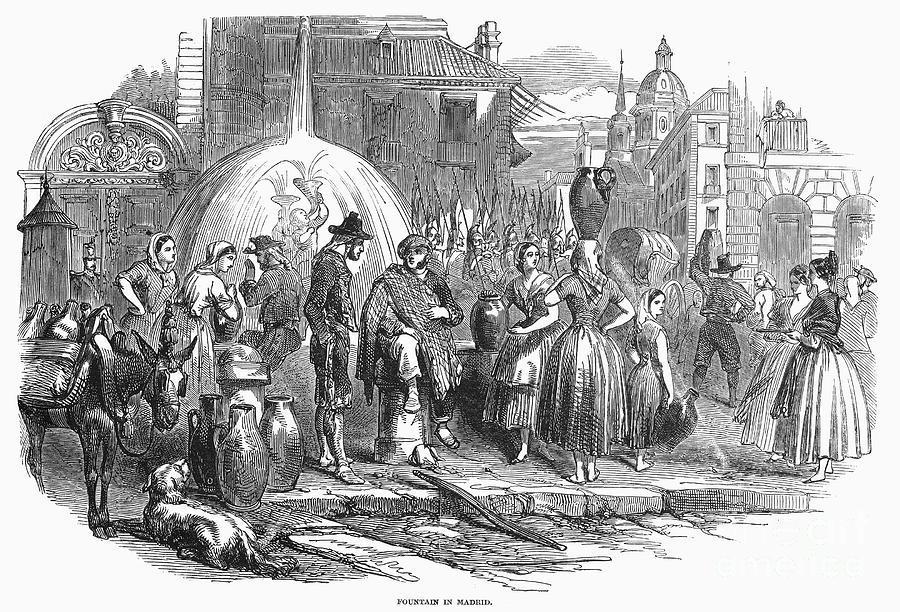 1848 Photograph - Spain: Madrid, 1848 by Granger