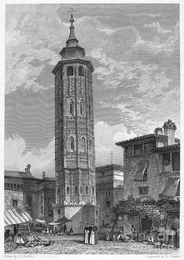 1833 Photograph - Spain: Saragossa, 1833 by Granger