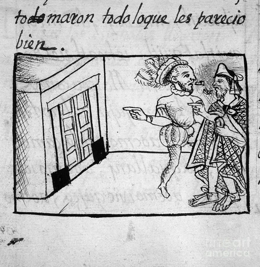 16th Century Drawing - Spanish Conquest by Granger