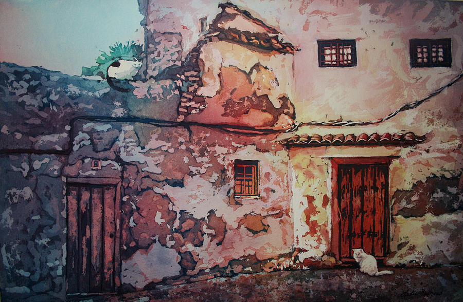 Spain Painting - Spanish Courtyard by Leslie Redhead