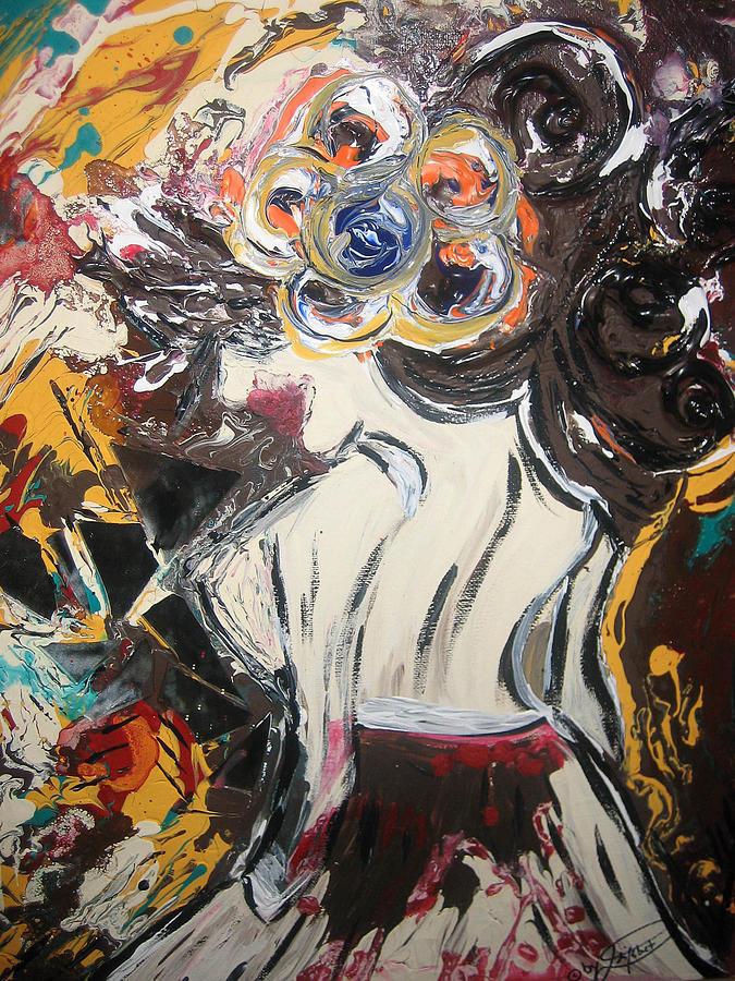 Flower Mixed Media - Spanish Flavor by Artista Elisabet