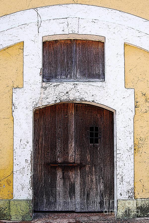 El Morro Digital Art - Spanish Fort Door Castillo San Felipe Del Morro San Juan Puerto Rico Prints Poster Edges by Shawn OBrien
