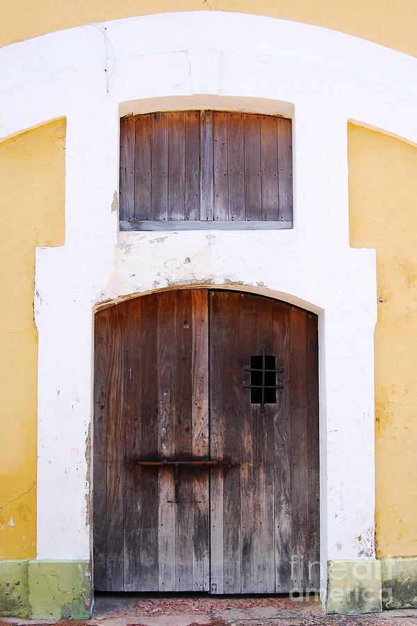 El Morro Photograph - Spanish Fort Door Castillo San Felipe Del Morro San Juan Puerto Rico Prints by Shawn OBrien