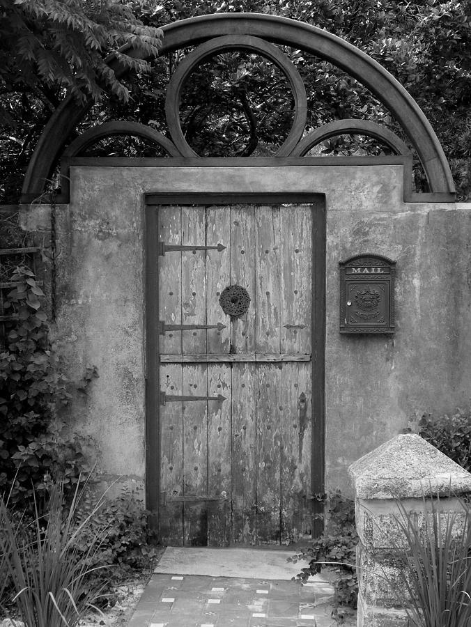 Door Photograph - Spanish Renaissance Courtyard Door by Judy Wanamaker