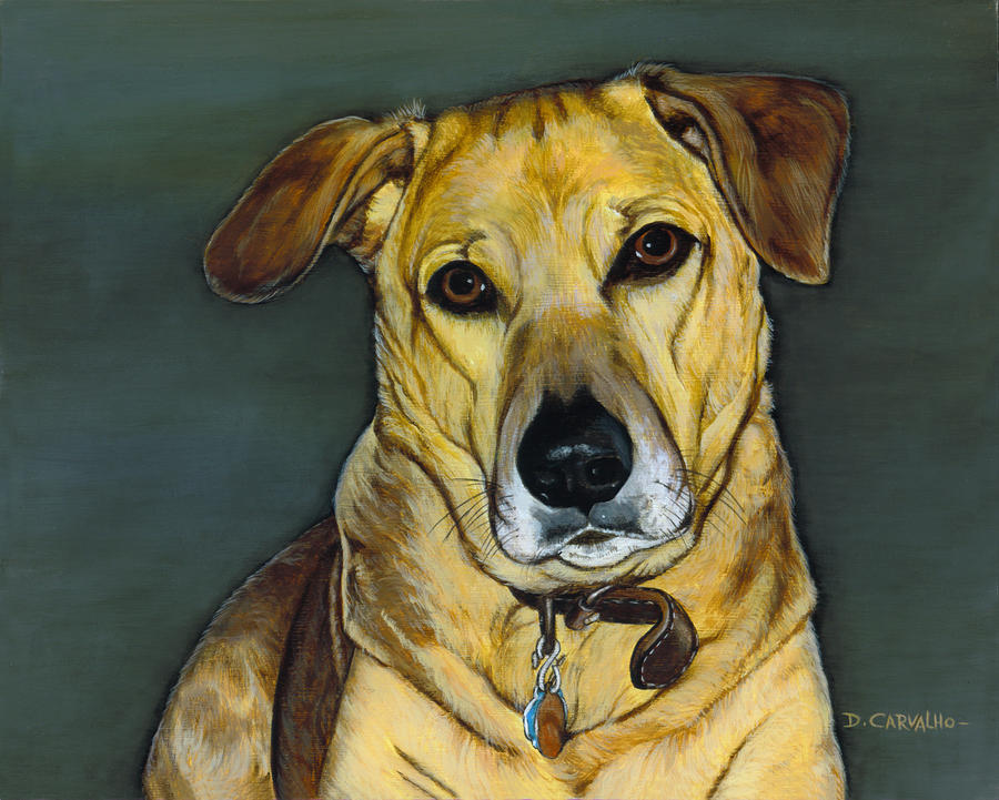 Dogs Painting - Spanky by Daniel Carvalho