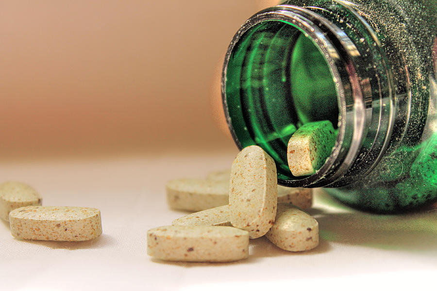 Vitamins Photograph - Sparkly Bottled Goodness by Sarah Broadmeadow-Thomas