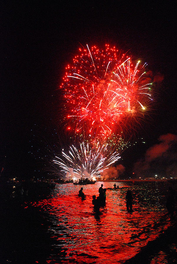 Festival Photograph - Sparks On The Sea by Perry Van Munster