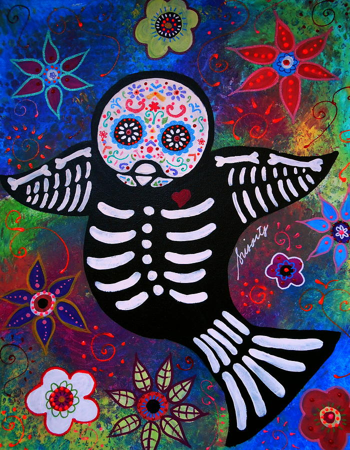 Ar Painting - Sparrow Day Of The Dead by Pristine Cartera Turkus