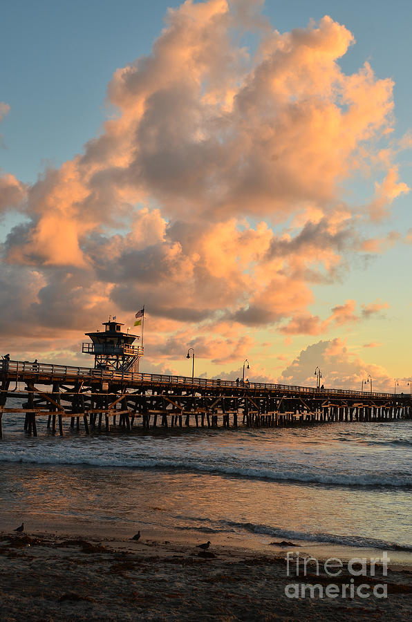 San Clemente Photograph - Spectacular San Clemente Clouds by Timothy OLeary
