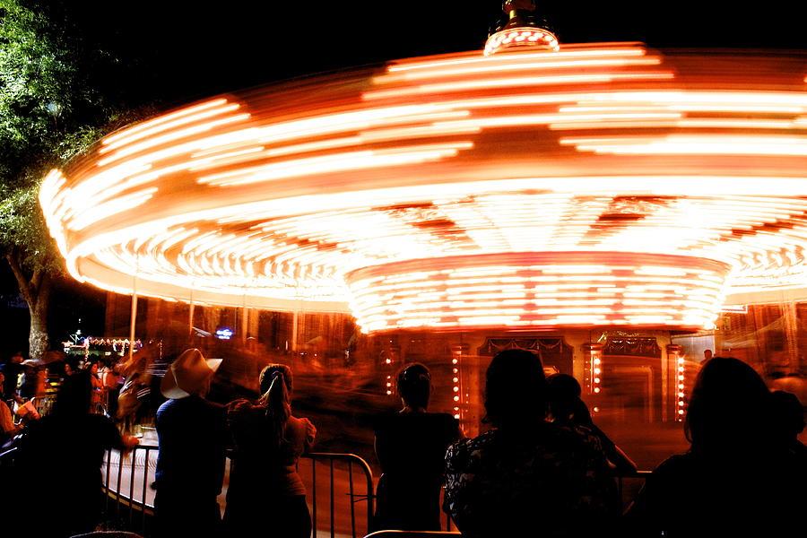Carousel Photograph - Speed Of Light by Alexander Martinez