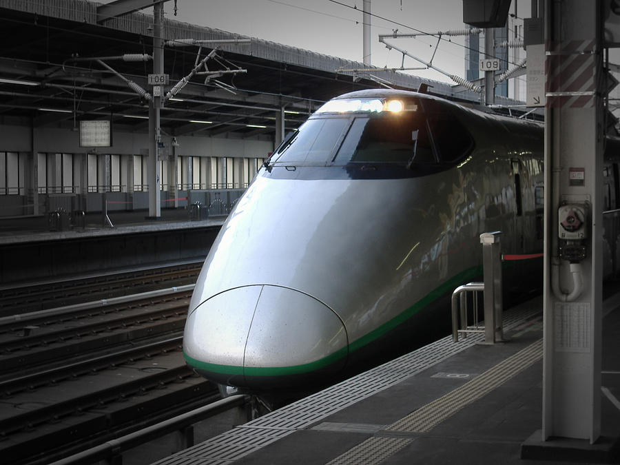 Shinkansen Train Photograph - Speed Train by Naxart Studio