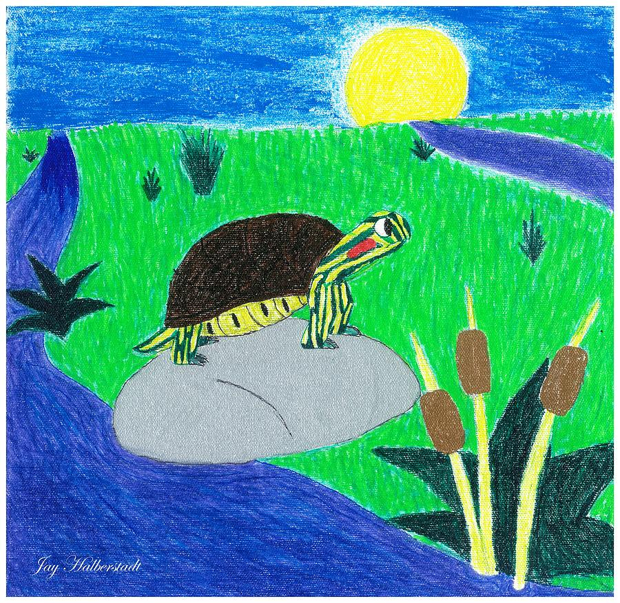 Turtle Photograph - Speedy Turtle by Artists With Autism Inc