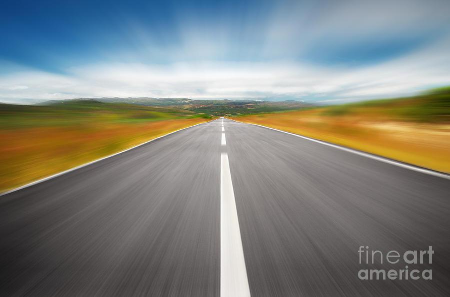Asphalt Photograph - Speedyway by Carlos Caetano