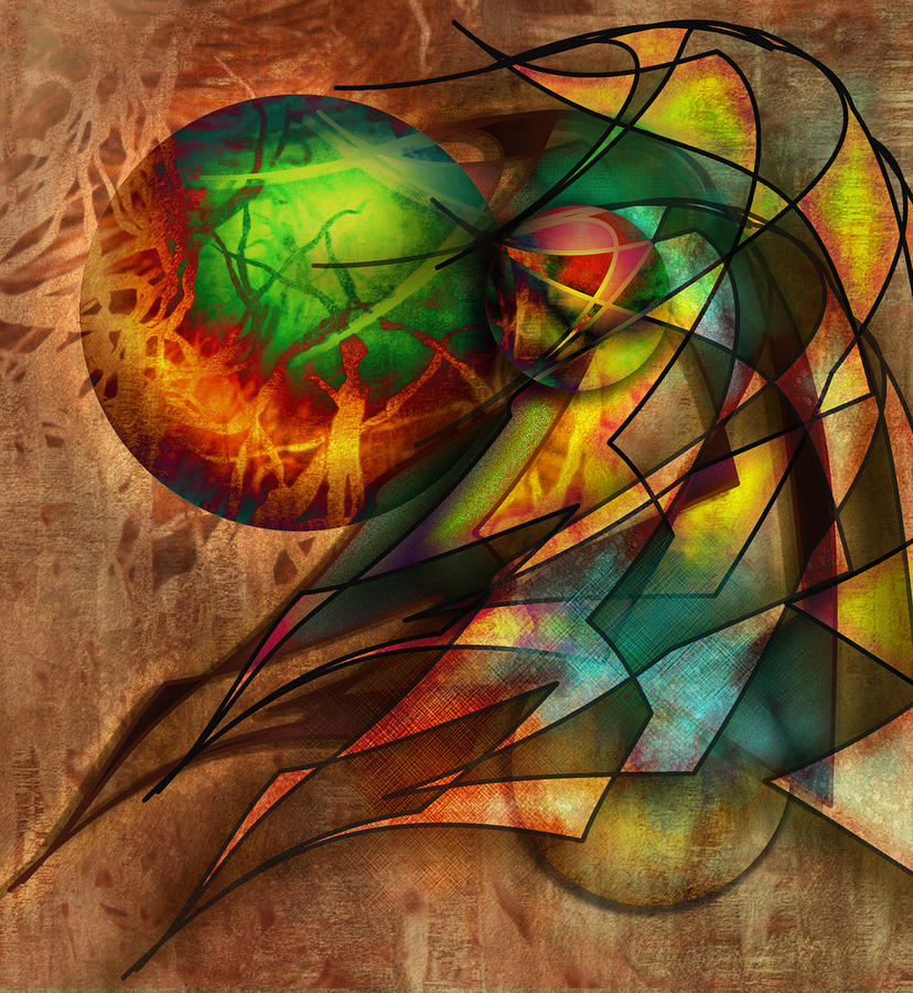 Abstract Digital Art - Sphere Of Influence by Monroe Snook