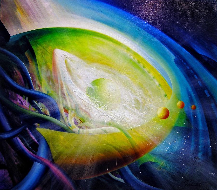 Microcosm Painting - Sphere Qf70 by Drazen Pavlovic