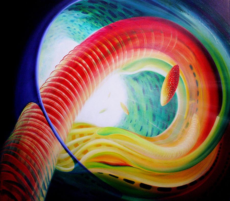 Microcosm Painting - Sphere Serpula 2 by Drazen Pavlovic