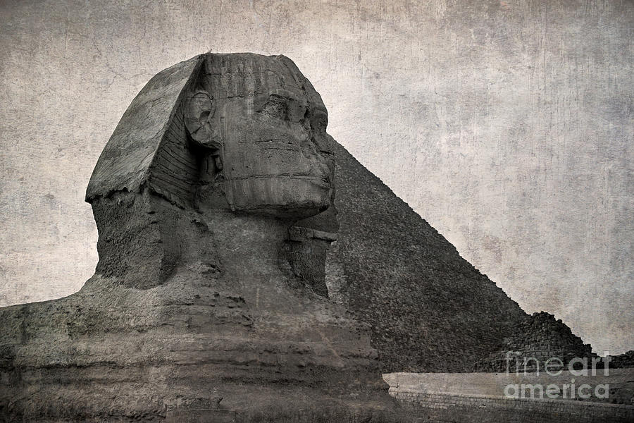 Africa Photograph - Sphinx Vintage Photo by Jane Rix