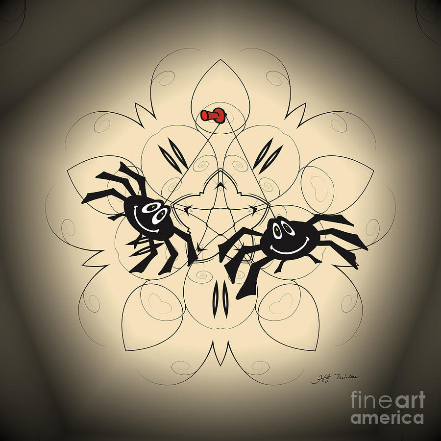 Spiders Just Hanging Around Digital Art by Heinz G Mielke