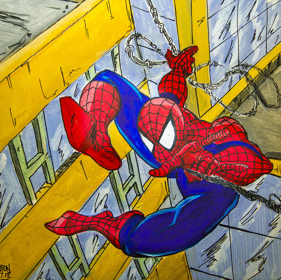 Spider-man Painting - Spidey  by Chris  Leon