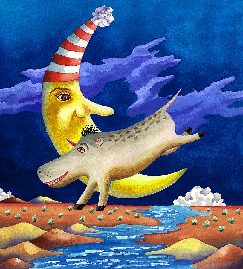 Cartoon Painting Painting - Spike The Dhog Arrives by Anne Gifford