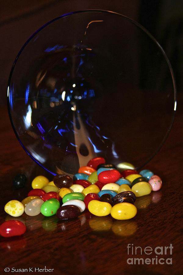 Food Photograph - Spilled Beans by Susan Herber